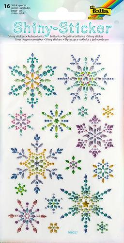 Shiny Sticker Eiskristalle, 16 Stück