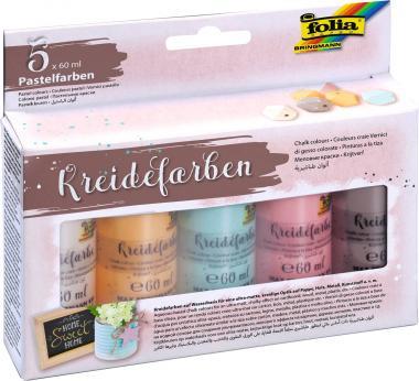 Kreidefarben, 5er-Set farbig sortiert (5 x 60 ml)