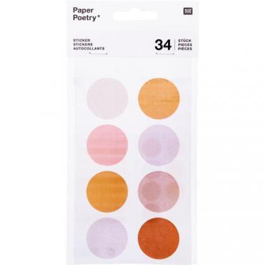 Sticker, 34 Stück Punkte/Streifen Lilatöne