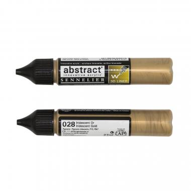 abstract Liner Acryl, 27 ml irisierendes gold