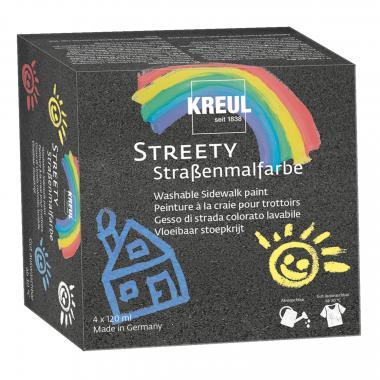 KREUL Streety Straßenmalfarben Starterset  4x120ml