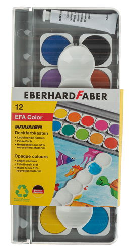 Deckfarbenkasten, 12 Farben