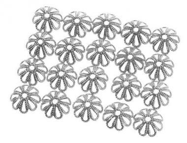 Capuchón para perlas, color platino (9 mm), 20 ud.