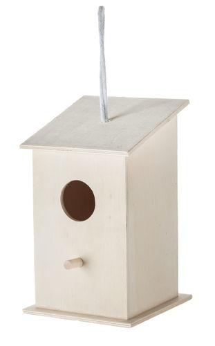 Casita para pájaros de madera (11 x 11 x 18 cm)