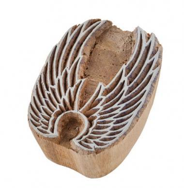Sello de de madera - Alas de ángel (60 x 45 mm)