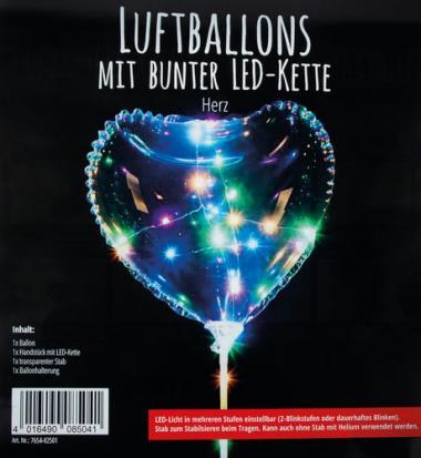 Palloncino con catena di luci LED, cuore