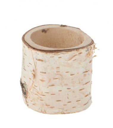Tronchetto di betulla - portalumini, ca.50-60x50mm
