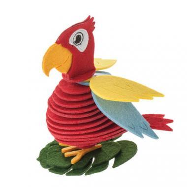 Filz-Bastelset Papagei, rot   (16 cm)