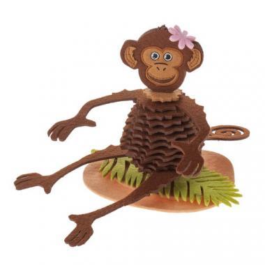 Filz-Bastelset Affe, braun  (14,5 cm)