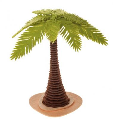 Knutselset - Vilten palmboom (25 cm) bruin/groen
