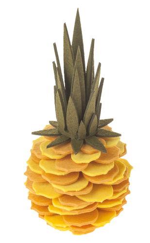 Filz-Bastelset Ananas, gelb  (ca. 23 cm)