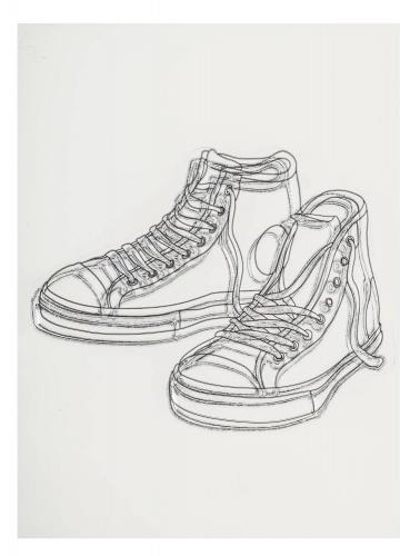 DoodleStamp Silikonstempel, Sneakers