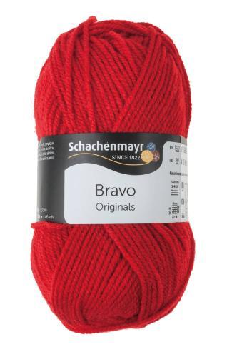 Lana Schachenmayr Bravo (50g/133m), rojo fuego