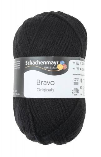 Schachenmayr Bravo Originals - lana, nero