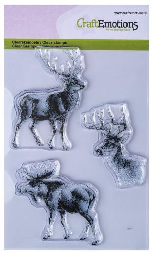 Craftemotions Clear Stamps - Rendier (A6) 3 stuks