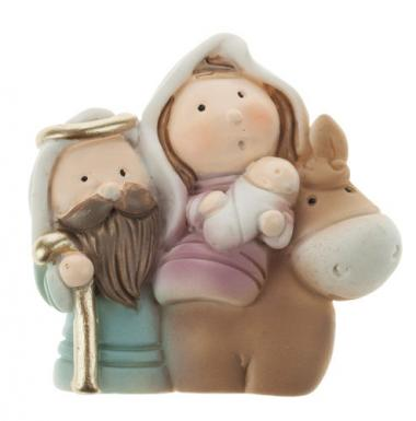 Figura de resina - Sagrada Familia con burro