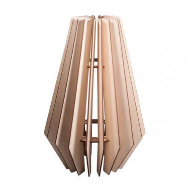 Pantalla de láminas de madera Estocolmo, 1 ud.