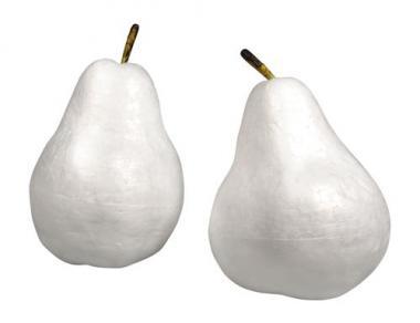Tempex peren met steeltje, 2 groottes, 2 stuks