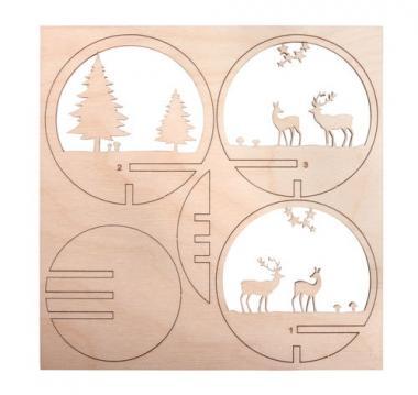 Parti da innesto in legno - bosco invernale