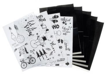 Transferpapier met A4 sjablonen - Merry X-Mas