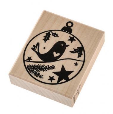 Sello de madera - Bola de Navidad