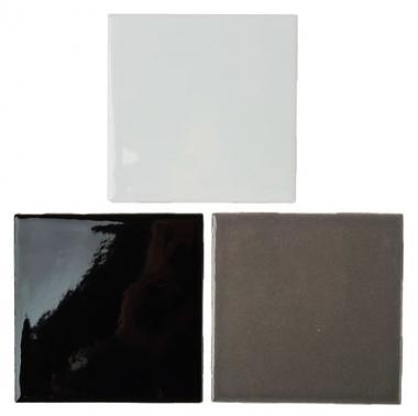 Mosaikfliesen, 3 Stück schwarz/weiß (100x100x4mm)