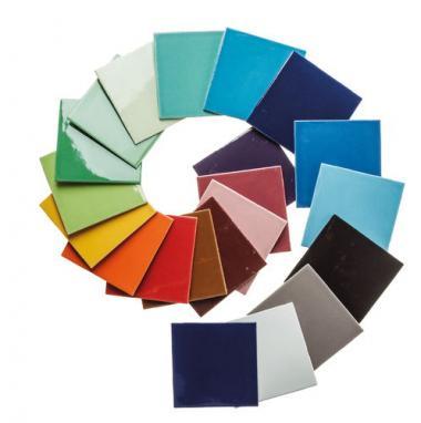 Mosaikfliesen, 21 Stück bunt (100 x 100 x 4 mm)