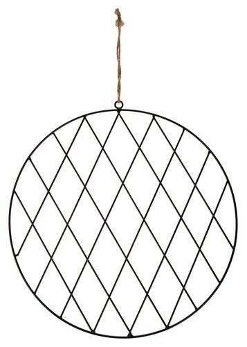 Anneau métallique avec grille, noir (38 cm)
