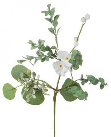Varilla de flores artificiales (42 cm) blanco