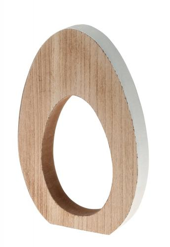 Huevo de madera decorativo (160 x 25 x 240 mm)