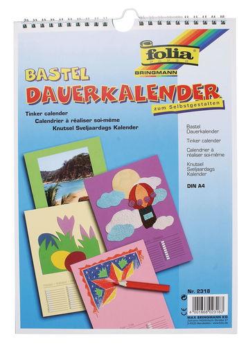 Calendario Din A4.Calendario Permanente Para Pintar Din A4 A Color